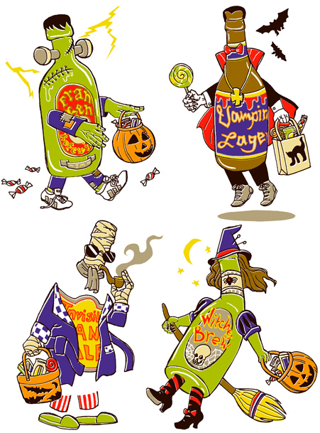 Halloween, autumn craft brews
