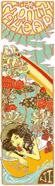art nouveau style National Post summer art