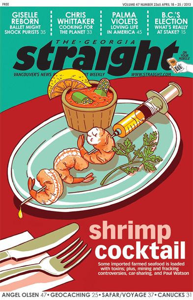 shrimp cocktail of drugs hormones pesticides chemicals